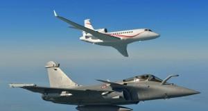 Falcon 7X & Rafale © Dassault Aviation / Katsuhiko Tokunaga