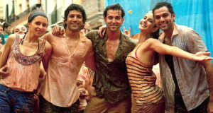 image of indian travellers from bollywood film