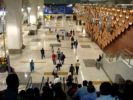 The mudra installations at Delhi's aiport Terminal 3.