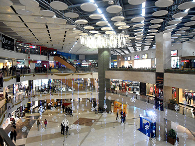 Pacific Mall, one of Delhi's many upscale malls that are popular hangouts for the youth