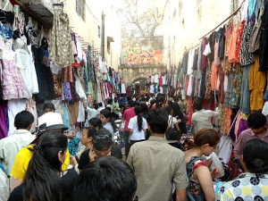 Shopping in Delhi's Sarojini Nagar Market can be an experience for those unused to its frenetic pace
