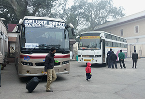 RSRTC buses ready to depart for Jaipur from Delhi