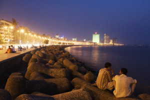 Queen's necklace or the Marine Drive. The best sea side evening stroll in the city. Photo by LonelyPlanet