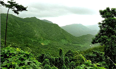 A view of the Western Ghats at Kakayam area in Kozhikode district.