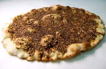 Zaatar Man'oushé, a Lebanese breakfast pizza with local thyme based spice mix is a popular choice.