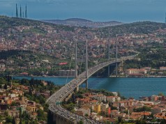 Bridge from Europe t Asia, Istanbul, Turkey image