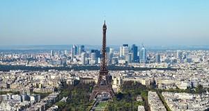 Eiffel Tower looms over Paris image