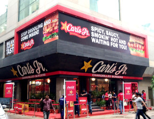 The first Carl's Jr store in south Delhi