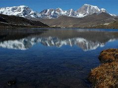 sikkim lake and mountain view