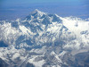 himalayas and everest from air