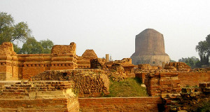buddha ruins in sarnath, uttar pradesh