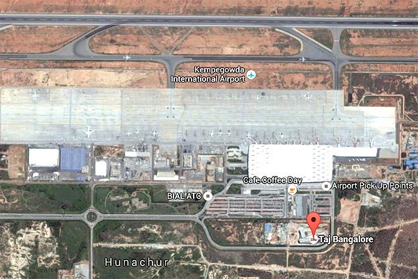 taj-bangalore-airport-locatio map