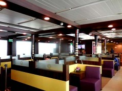 The Vistara lounge is close to the airline's departure gates