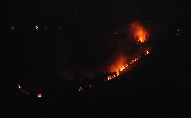 Even at night, fires are on! at Ranikhet