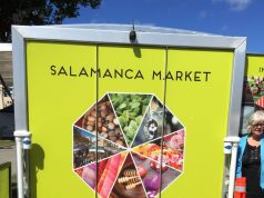 Visiting Hobart's Salamanca market is a treat.