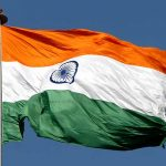 India's tricolour flag, adopted at independence in 1947