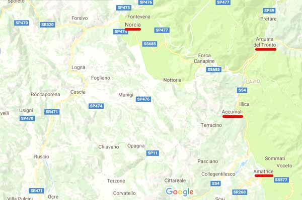 umbria-earthquake-map