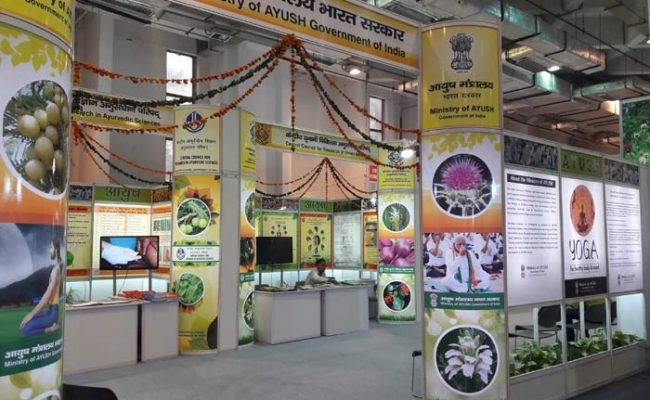 The Ministry of Ayush stall
