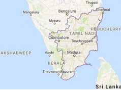 tamil nadu location in southern india