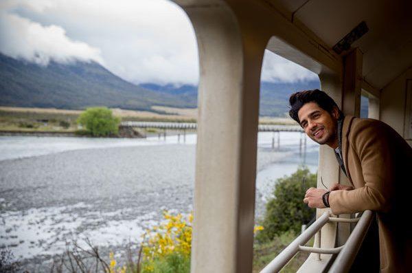 Enjoying a train ride in South Island