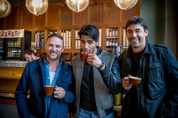 Learning to make white flat coffee with Stephen Fleming and Brendon McCullum