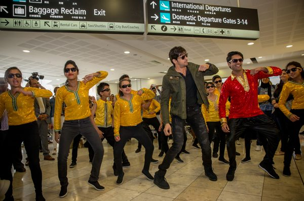 Tourism New Zealand brand ambassador Sidharth Malhotra shook a leg with his fans at the Christchurch airport