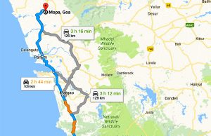 goa road map to mopa airport