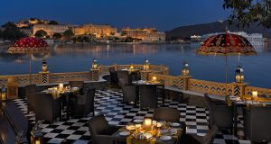 Lake Pichola views from Leela Palace hotel, Udaipur