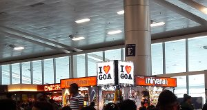 Goa airport waiting area