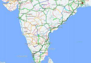 antodaya express route map