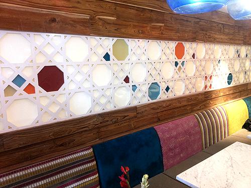 The bright interiors of Zizo create different zones